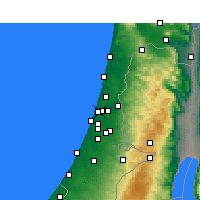 Nearby Forecast Locations - Ramat Gan - Map