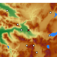 Nearby Forecast Locations - Pamukkale - Map