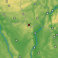 Nearby Forecast Locations - Esch-sur-Alzette - Map