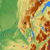Nearby Forecast Locations - Hauteville-Lompnes - Map