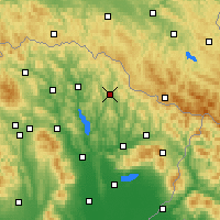 Nearby Forecast Locations - Zbudská Belá - Map