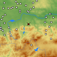 Nearby Forecast Locations - Andrychów - Map