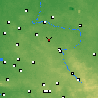 Nearby Forecast Locations - Kłobuck - Map
