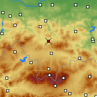 Nearby Forecast Locations - Rabka-Zdrój - Map