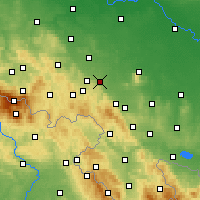 Nearby Forecast Locations - Świdnica - Map