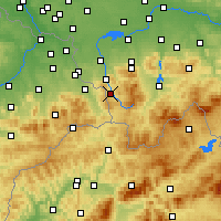 Nearby Forecast Locations - Wisła - Map