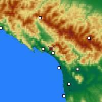 Nearby Forecast Locations - Carrara - Map
