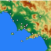 Nearby Forecast Locations - Afragola - Map