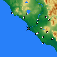 Nearby Forecast Locations - Fiumicino - Map