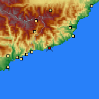 Nearby Forecast Locations - Sanremo - Map