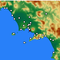 Nearby Forecast Locations - Ercolano - Map