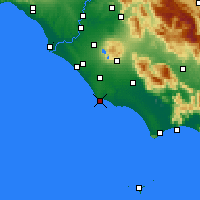 Nearby Forecast Locations - Anzio - Map
