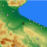 Nearby Forecast Locations - Canosa di Puglia - Map