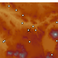 Nearby Forecast Locations - Nevşehir - Map