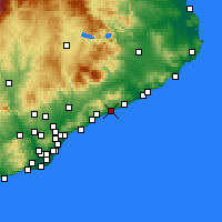 Nearby Forecast Locations - Canet de Mar - Map