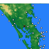 Nearby Forecast Locations - Paparoa - Map