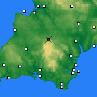 Nearby Forecast Locations - Okehampton - Map