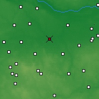 Nearby Forecast Locations - Łowicz - Map