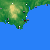 Nearby Forecast Locations - Dartmouth - Map