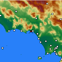 Nearby Forecast Locations - Formia - Map