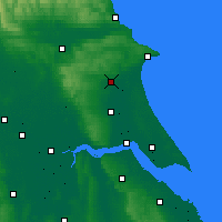 Nearby Forecast Locations - Driffield - Map