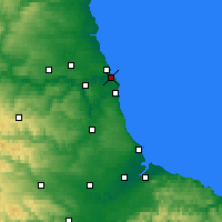 Nearby Forecast Locations - South Shields - Map