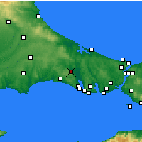 Nearby Forecast Locations - Çatalca - Map