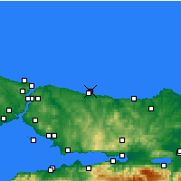 Nearby Forecast Locations - Şile - Map