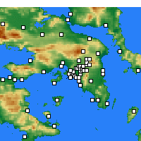 Nearby Forecast Locations - Nikaia - Map