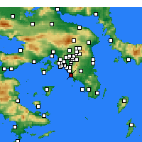 Nearby Forecast Locations - Glyfada - Map