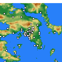 Nearby Forecast Locations - Chalandri - Map