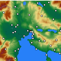 Nearby Forecast Locations - Evosmos - Map