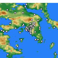 Nearby Forecast Locations - Palaio Faliro - Map