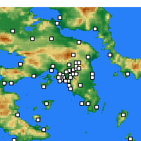 Nearby Forecast Locations - Galatsi - Map