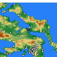 Nearby Forecast Locations - Chalcis - Map