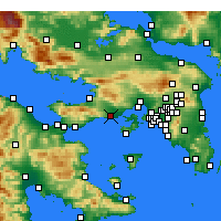 Nearby Forecast Locations - Megara - Map