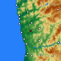 Nearby Forecast Locations - Vila Nova de Famalicão - Map
