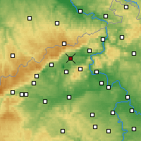 Nearby Forecast Locations - Teplice - Map