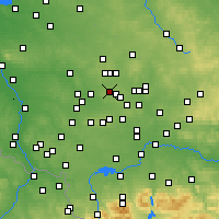 Nearby Forecast Locations - Świętochłowice - Map