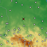 Nearby Forecast Locations - Bolesławiec - Map