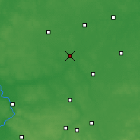 Nearby Forecast Locations - Radzyń Podlaski - Map