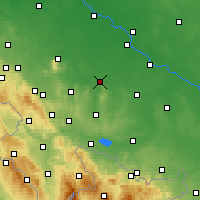 Nearby Forecast Locations - Strzelin - Map