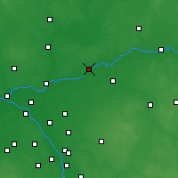 Nearby Forecast Locations - Wyszków - Map