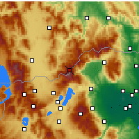 Nearby Forecast Locations - Voras Mountains - Map