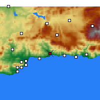 Nearby Forecast Locations - Vélez-Málaga - Map