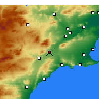 Nearby Forecast Locations - Totana - Map