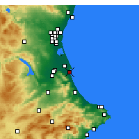 Nearby Forecast Locations - Cullera - Map
