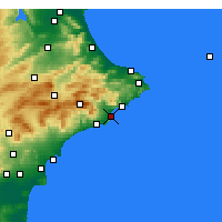 Nearby Forecast Locations - Altea - Map