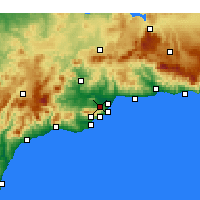 Nearby Forecast Locations - Alhaurín de la Torre - Map