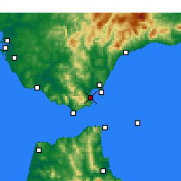 Nearby Forecast Locations - Algeciras - Map